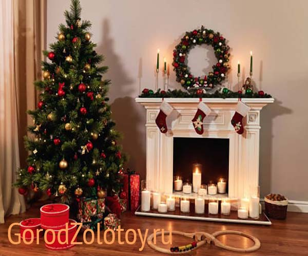 Украшение квартиры на Новый год: 10 идей декора гостиной